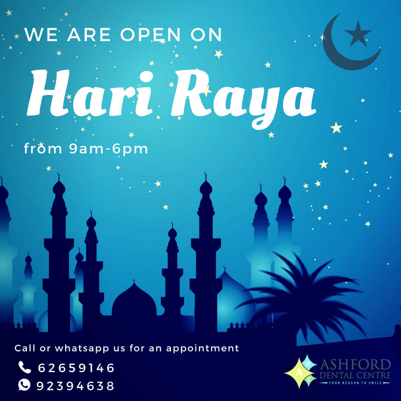 Ashford Dental Centre Hari-Raya We Are Open On Hari Raya Uncategorized