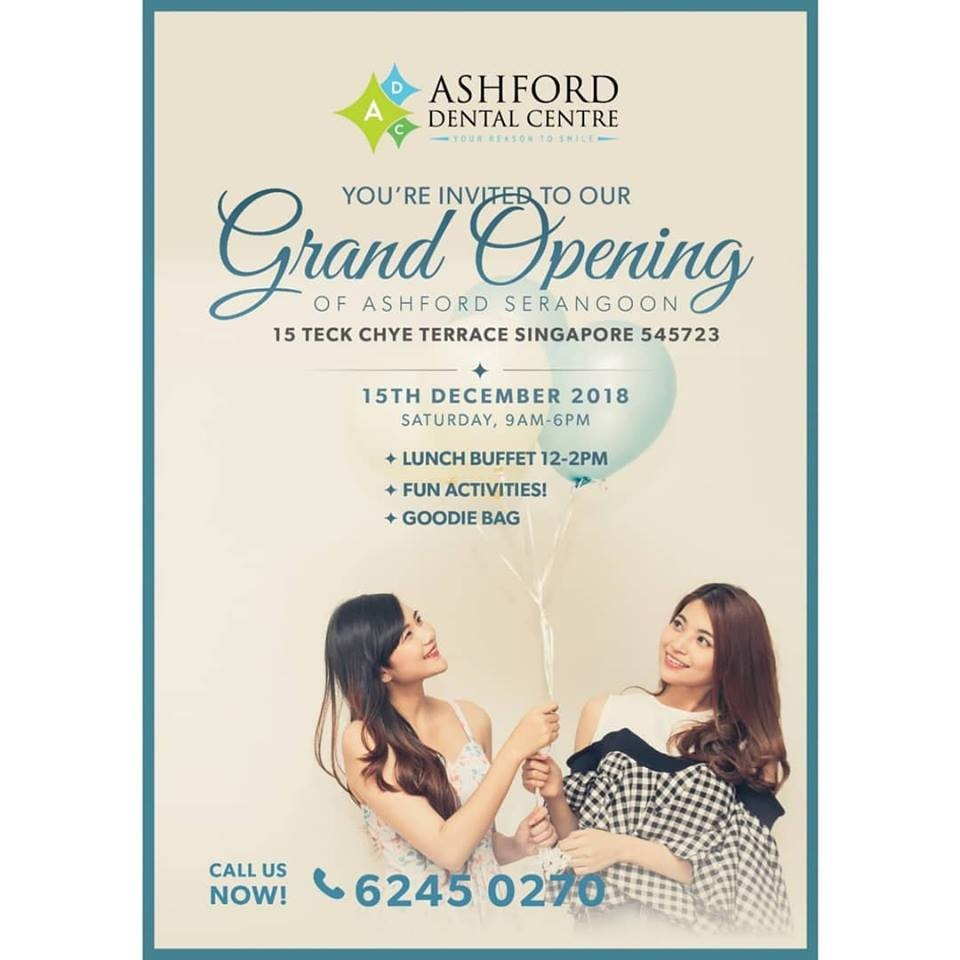Ashford Dental Centre 48361808_233315440696079_1481024815241363456_n Come one & all for the GRAND OPENING of our 2nd branch in SERANGOON! Uncategorized